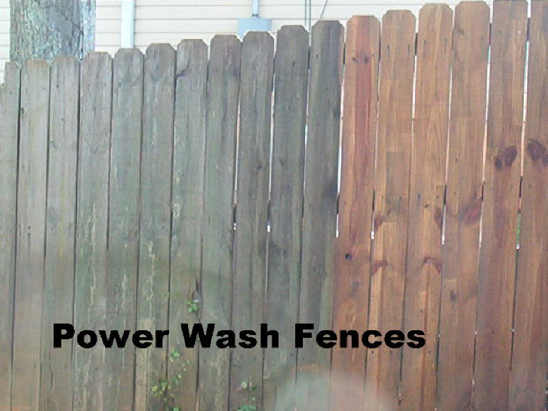 Power Wash Fences